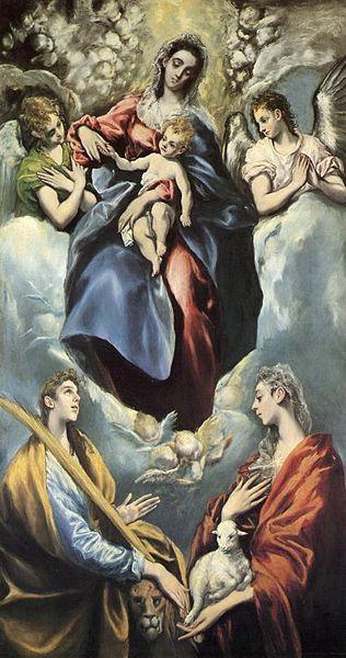 Sainte Martine et Sainte Agnès devant la Vierge par El Greco