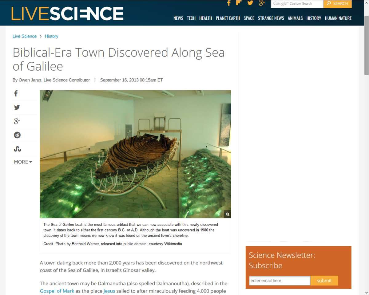 Source: http://www.livescience.com/39661-biblical-era-town-discovered-sea-of-galilee.html