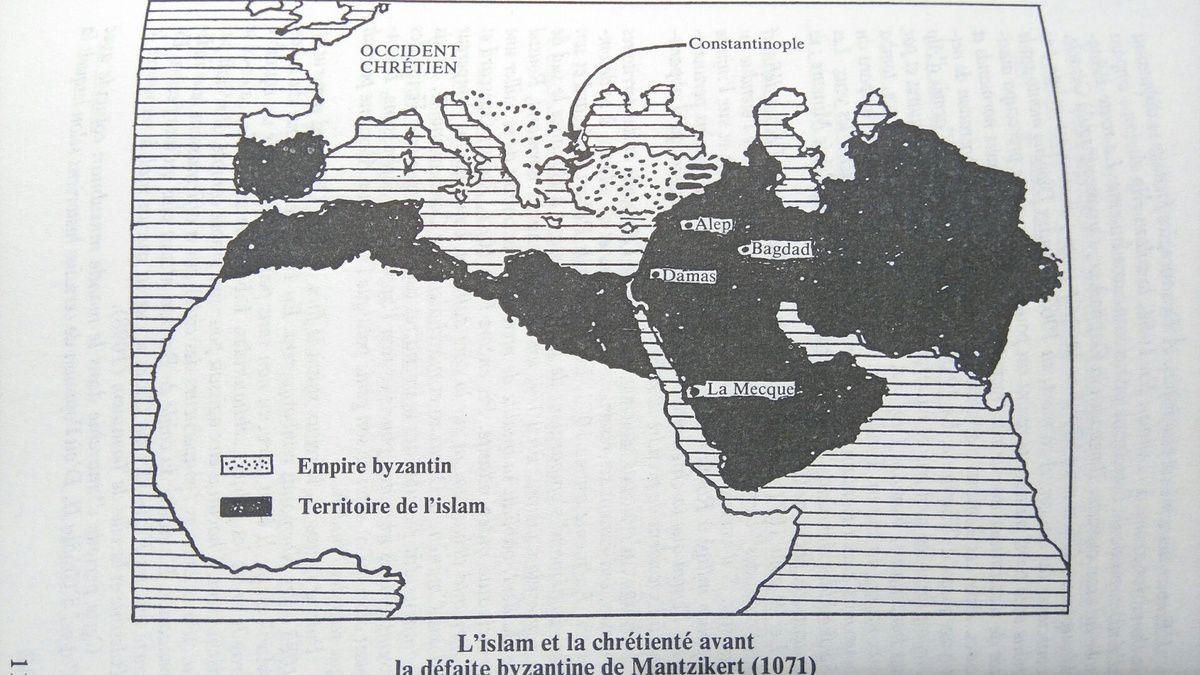Avancée de l'islam au XIe siècle. Georges Bordonove, Carte tirée de Georges