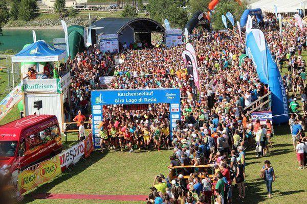 Giro del Lago di Resia. Partenza dell'edizione 2014