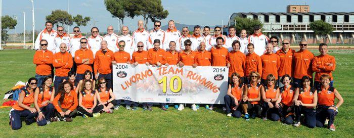 Sempre cara mi fu... Fucecchio Dopo il titolo nazionale del 2014, la squadra arancione ha trionfato di nuovo nel cross  (Nella foto il Livorno Team Running)