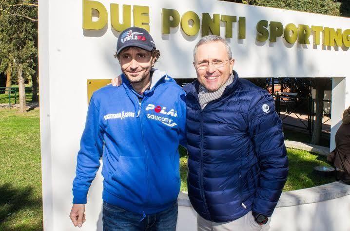 Giorgio Calcaterra e il presidente della Maratona di Roma Enrico Castrucci.