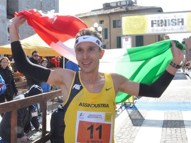 Ruggero Pertile, vincitore della 1^ edizione della Unesco Cities Marathon (2013)