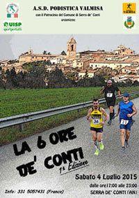 La 6 ore de' Conti 2015 (1^ ed.). Una new entry marchigiana nel campo delle Ultramaratone a tempo
