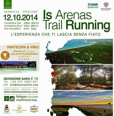 Is Arenas Trail Running 2015 (2^ ed.). Tutto pronto per la corsa in natura del 7 giugno