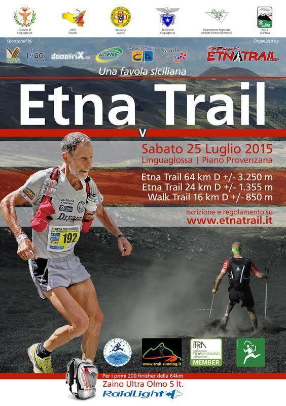 Etnatrail Linguaglossa 2015. Oltre 400 gli iscritti con atleti di molte nazioni. Marco Olmo testimonial