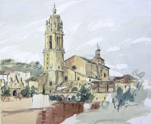 Torres del Rio, meta finale della sesta tappa di Emanuela è un piccolo borgo di 172 abitanti
