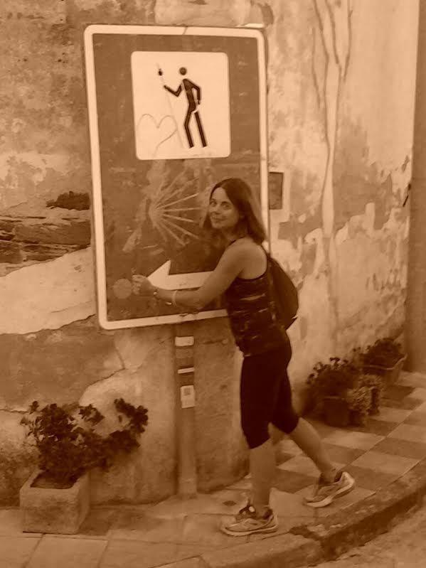 Emanuela Pagan lungo il Cammino di santiago (2015)