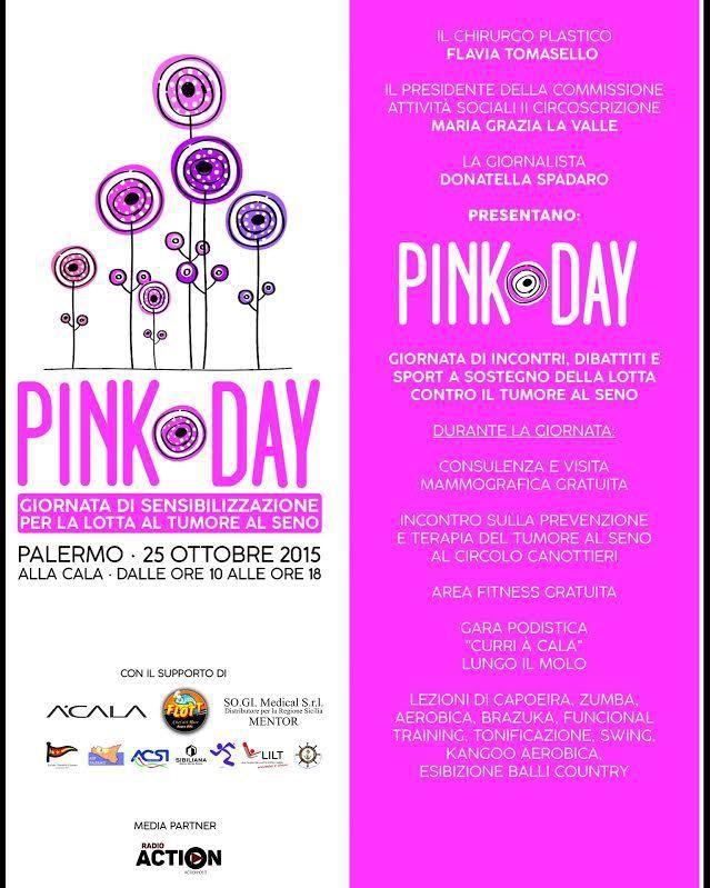 Curri A' Cala (1^ ed.). In occasione del - e per - il Pink Day record di partecipanti. Il campione italiano Vincenzo Agnello e Daniela Cassataro testimonial