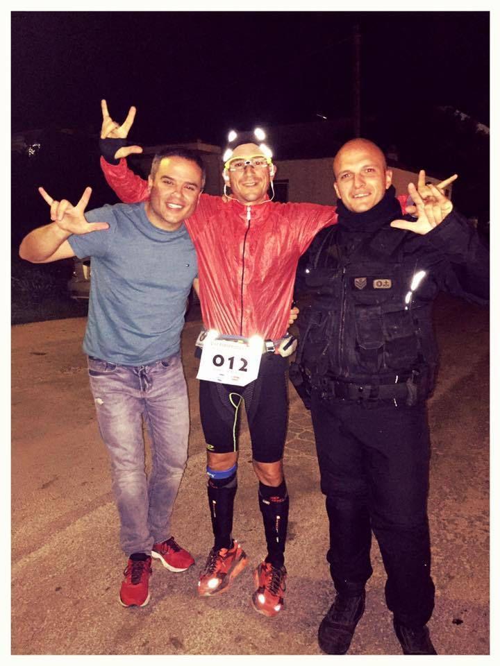 Fidippides Run 2015 (1^ ed.). Meno di 100 km all'arrivo per Marco Bonfiglio