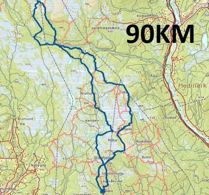 Il percorso del Trail di 90 km