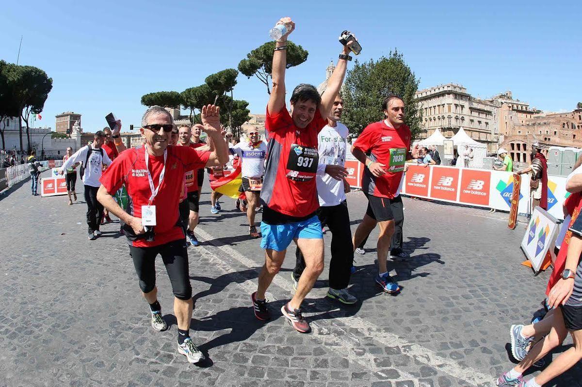 Fabio Lucidi in azione di corsa