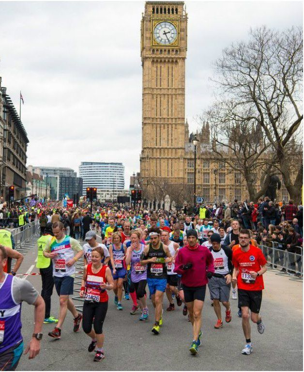 Un momento della Virgin Money London Marathon 2016