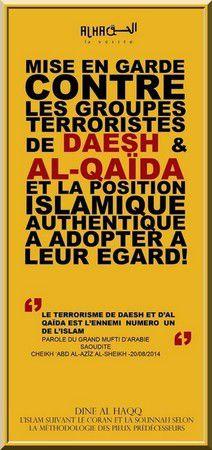 Mise en garde contre les groupes terroristes de DAECH et Al-Qaida (dossier)