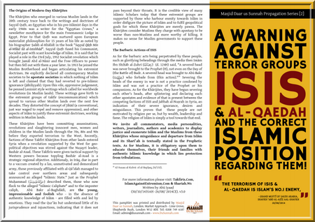 A warning against terror groups ISIS &amp&#x3B; al-qaedah and the correct islamic position regarding them (dossier)