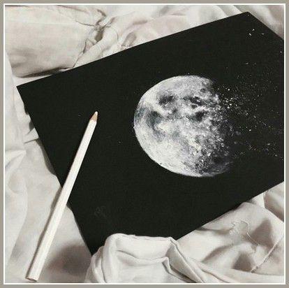 Point de peine dans la vision de la Lune