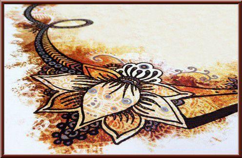 Les dessins au henn sur les mains et les pieds des femmes la science l gif r e - Dessin de henne pour les mains ...