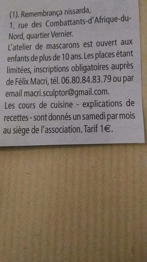 article NICE MATIN - jeudi 7 avril 2016 - Véronique MARS - photos DR
