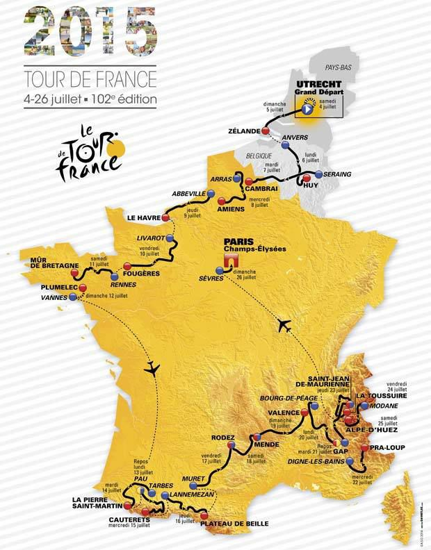 Le Tour de France 2015 - Les étapes.