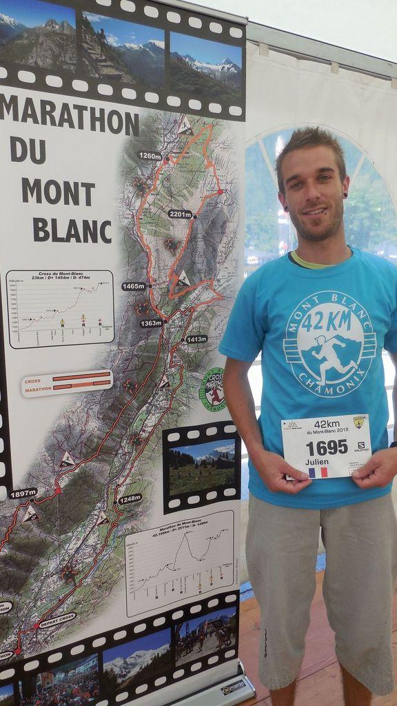 Julien au Marathon du Mont Blanc !