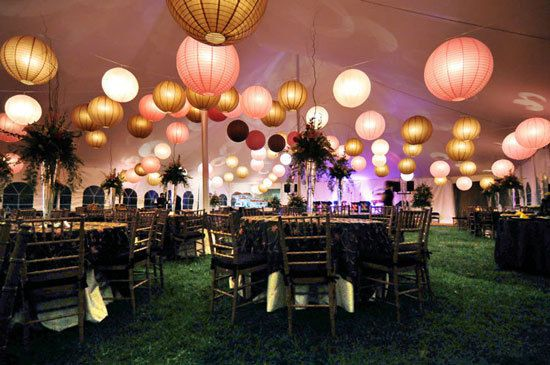 decoration salle mariage lampion