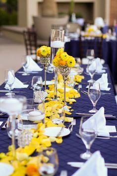 décoration de mariage jaune