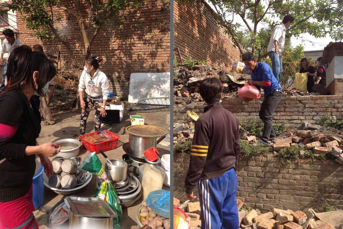 Récupération de matériel et de nourriture dans le home