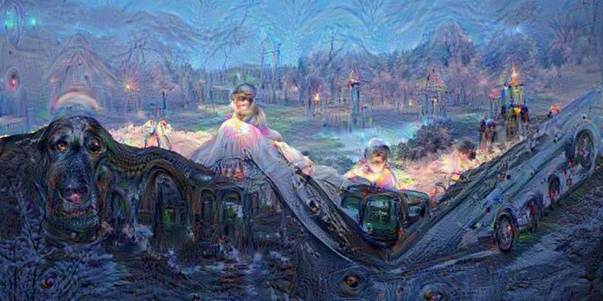 Le massif du Mont-Blanc vu par Deep Dream