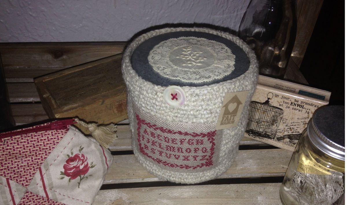 Ma dernière réalisation en laine naturelle ....
