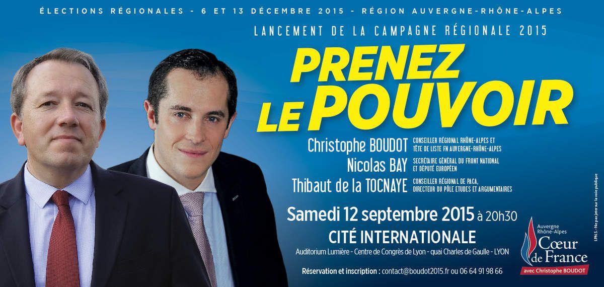 Régionales : Ne manquez pas le grand meeting de Christophe BOUDOT !