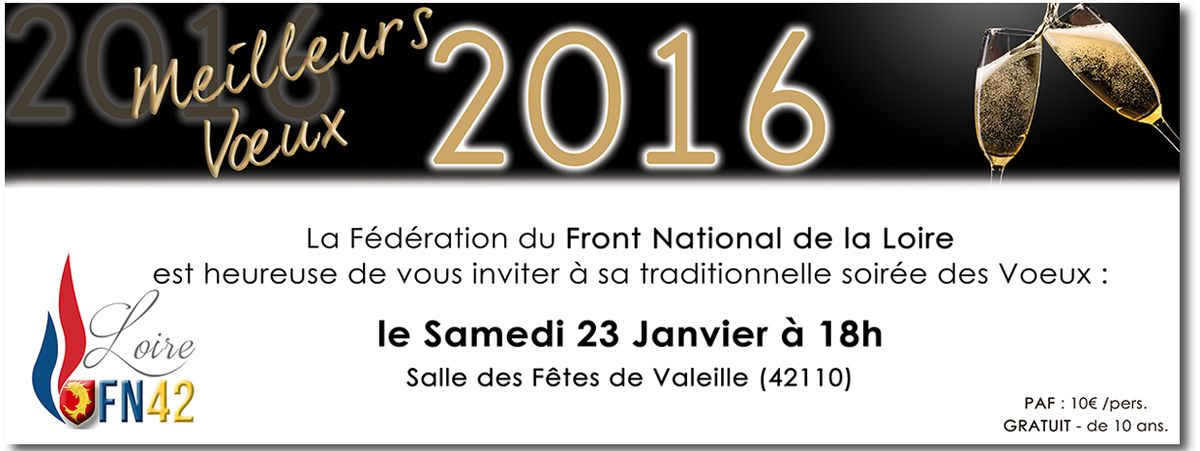 Samedi 23 Janvier : Soirée des voeux du FN42 !