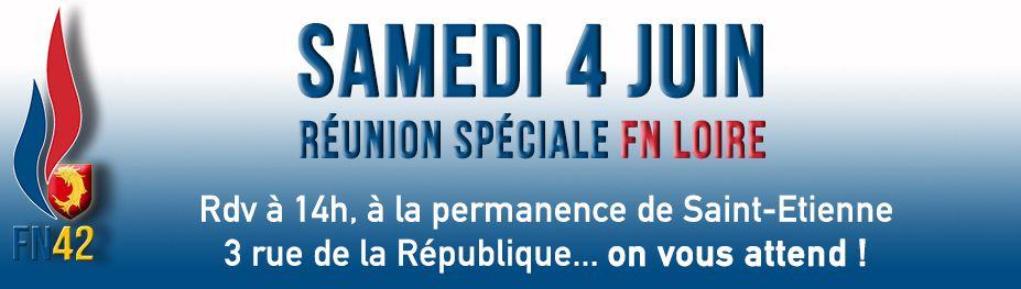 Samedi 4 Juin : Réunion des adhérents à 14h à Saint-Etienne !
