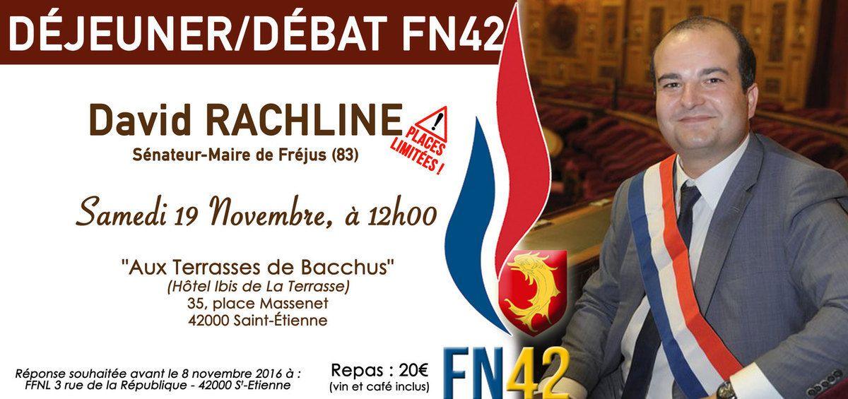 A midi, retrouvez toute la Fédération du FN42 autour de David RACHLINE à Saint Etienne !