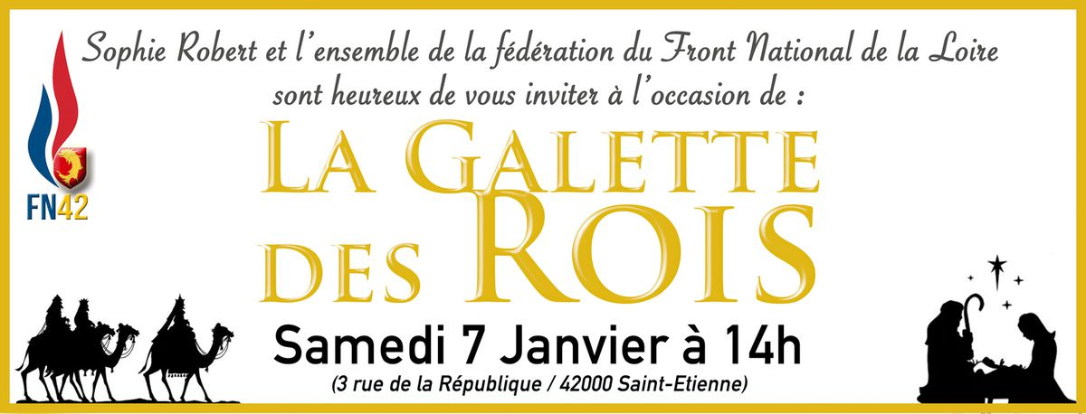 Galette des Rois : réservez dès aujourd'hui votre samedi 7 janvier !