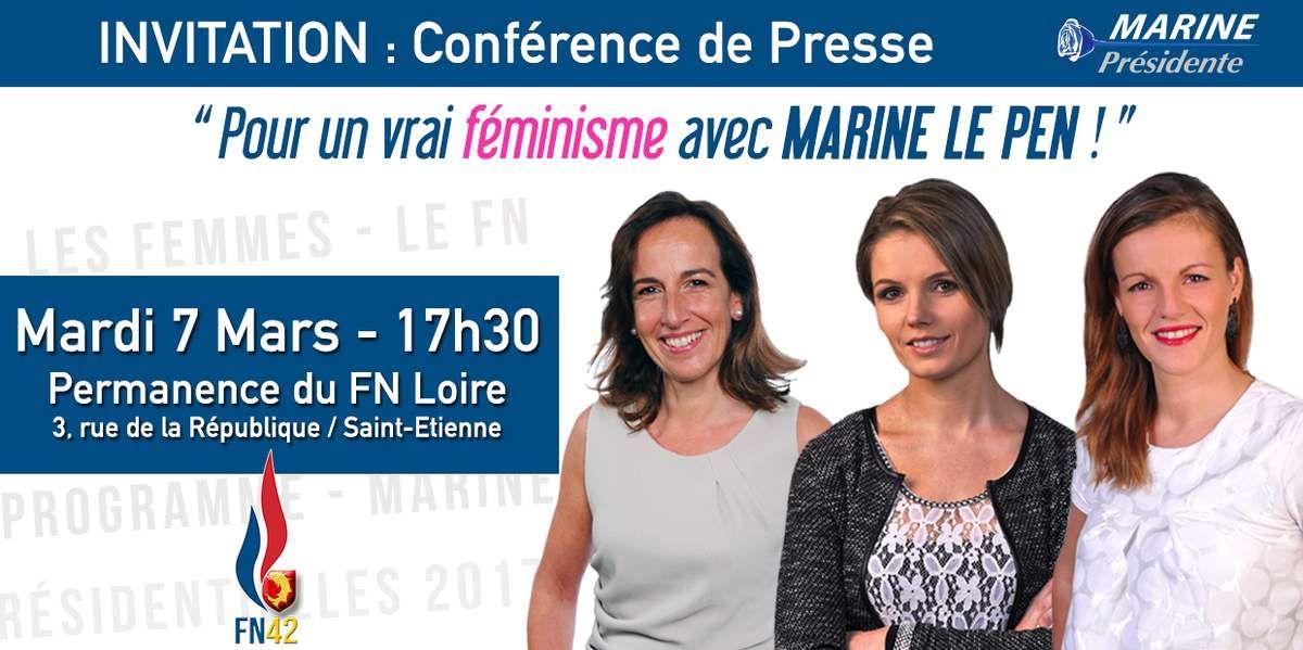 A l'occasion de la journée de la femme le 8 mars les Femmes Patriotes s'adressent aux françaises !