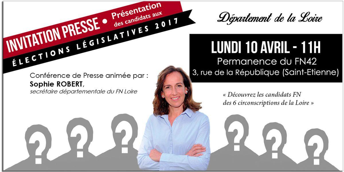 Législatives 2017 : lundi 10 Avril vous découvrirez enfin vos 6 candidats FN de la Loire !