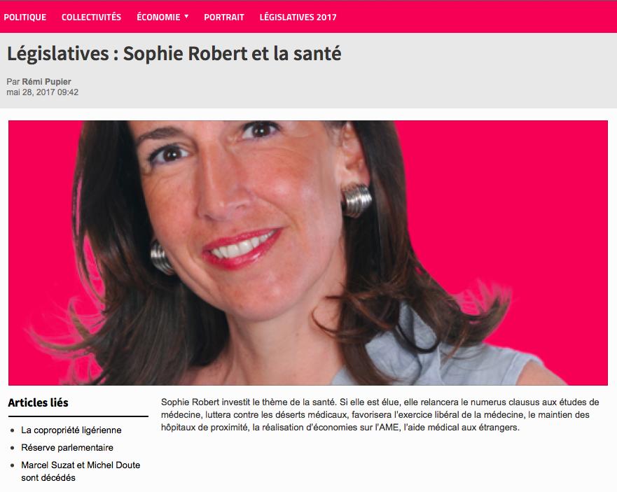 E-commune revient sur le communiqué de Sophie ROBERT sur la santé
