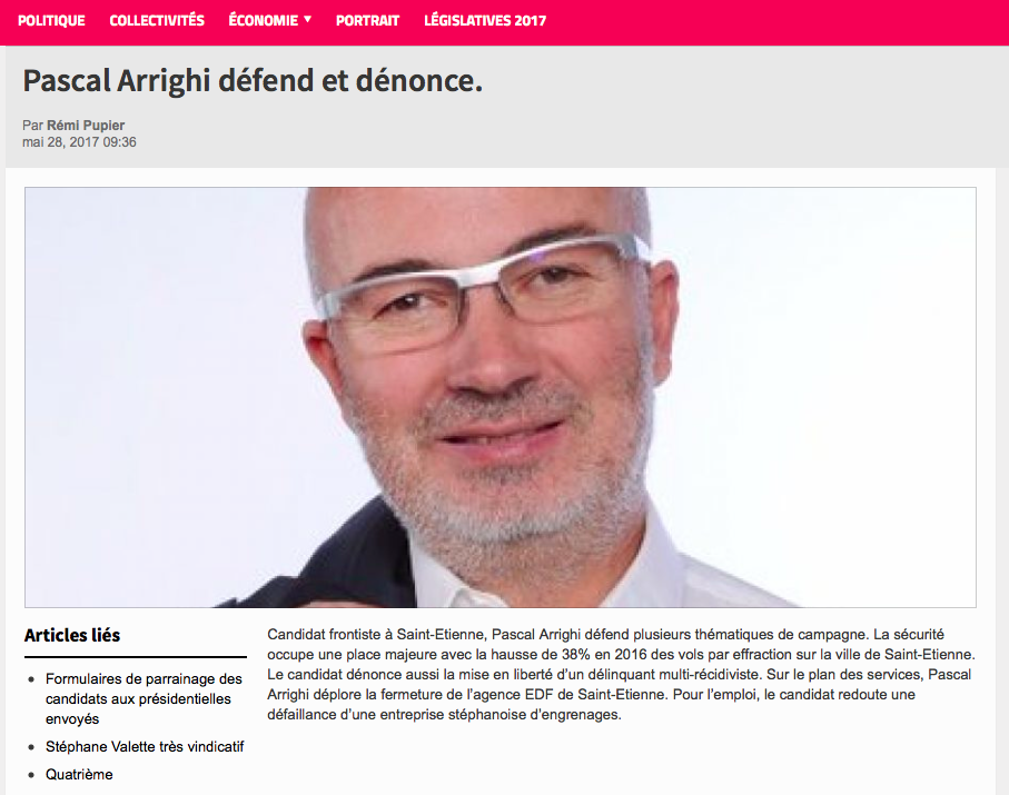 E-commune revient sur la candidature de Pascal ARRIGHI dans la 2ème Circonscription
