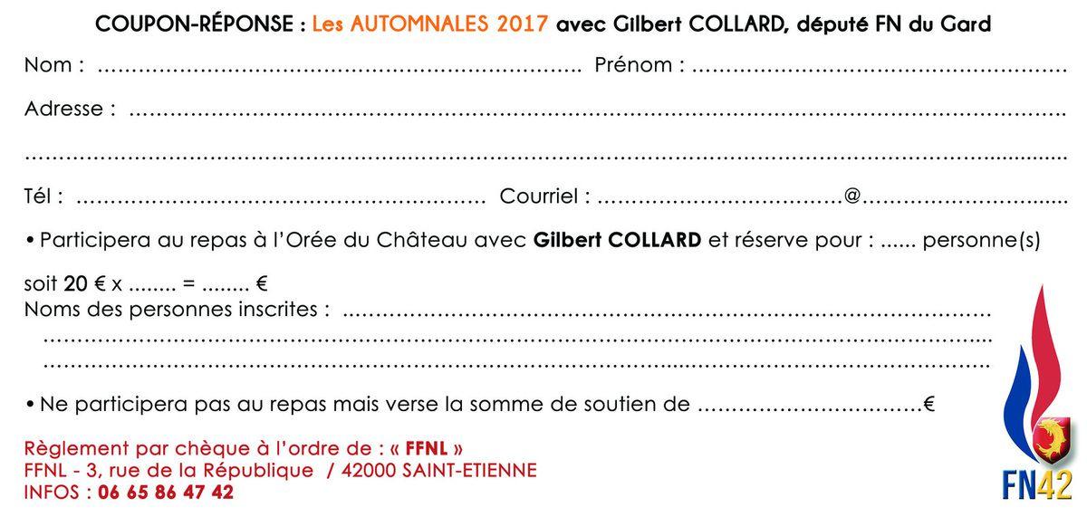 Les Automnales 2017 accueillent Gilbert COLLARD (député FN du Gard)