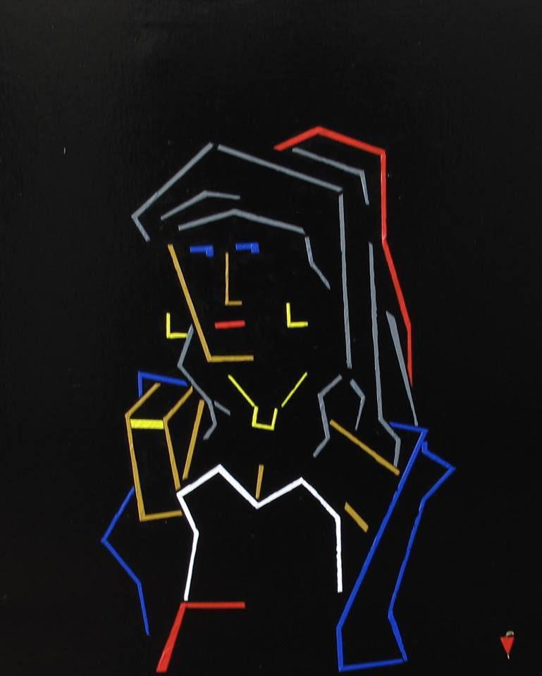 &quot&#x3B;La Signora di Torino&quot&#x3B; artwork by André Schreuder, Netherlands. Haiku by Lidia Chiarelli, Italy