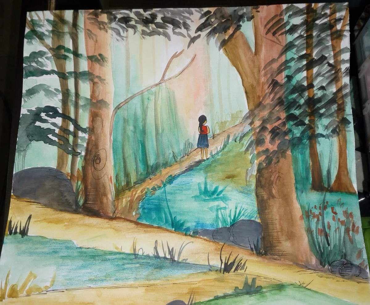 A Child In Time - painting  by Vandana Sareen, India
