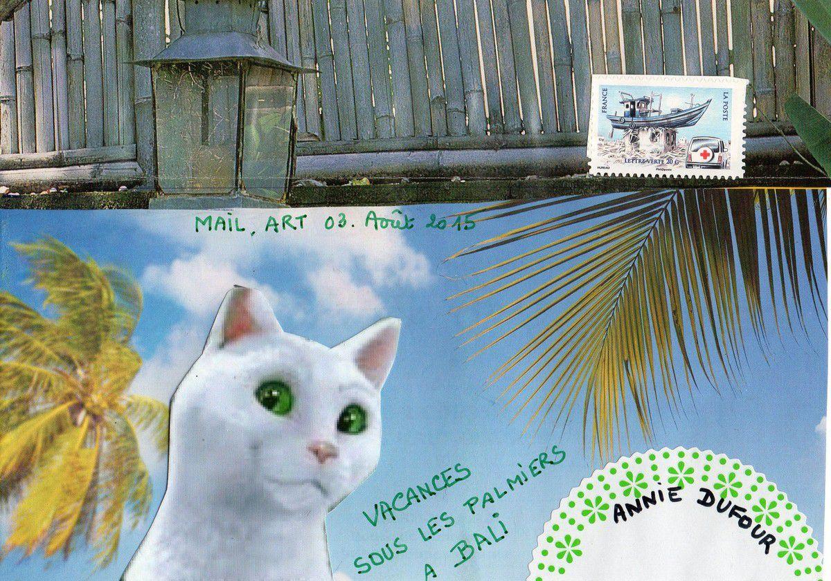 Bonjour Annie,le chat feu vert va enfin se reposer.Amitiés postales,Nadine.