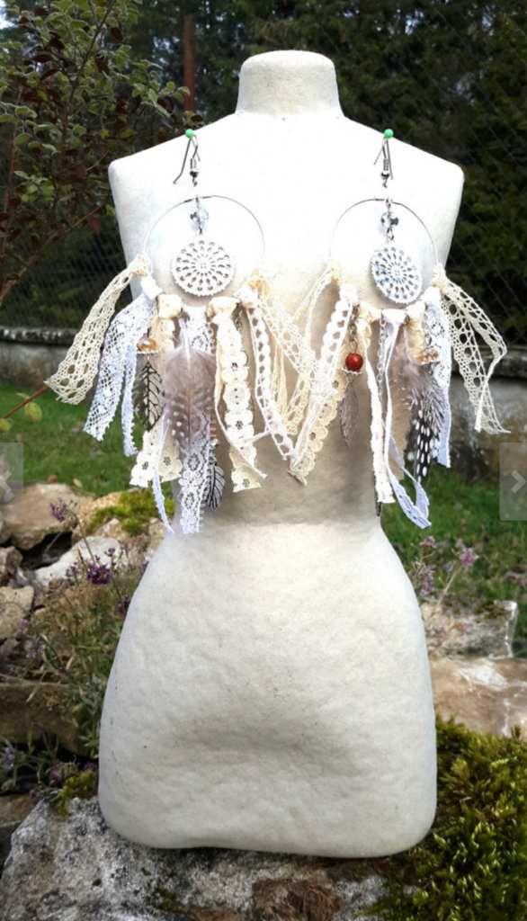 Bijoux bohèmes, montre dreamcatcher, hippie chic, folk, gipsy, gitane, festival, coachella, dentelle, babydoll, romantique
