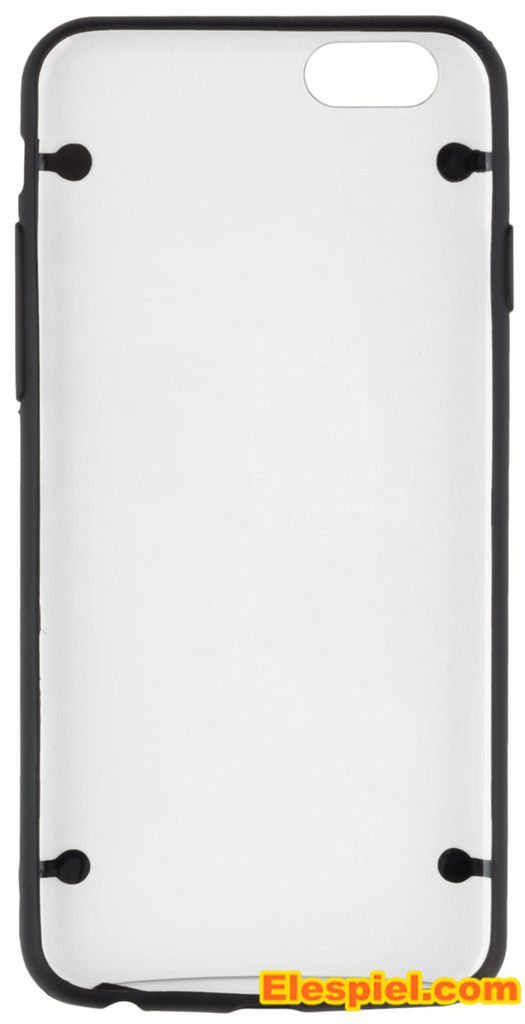 Schutzhülle iPhone 6 / iPhone 6S protector Hülle - transparente Rückseite mit Rahmen in schwarz