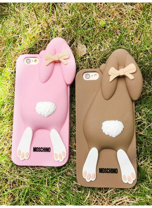 Moschino 3D Hase Silikon Handyhülle für iphone !