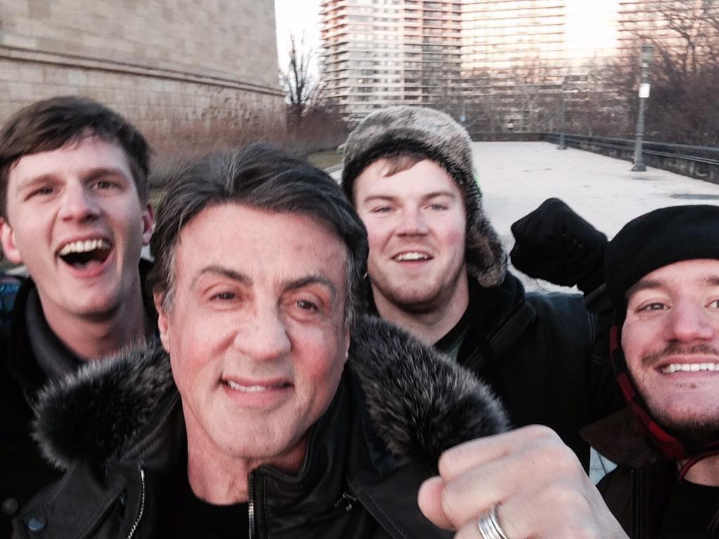 Regardez le selfie incroyable de Sylvester Stallone