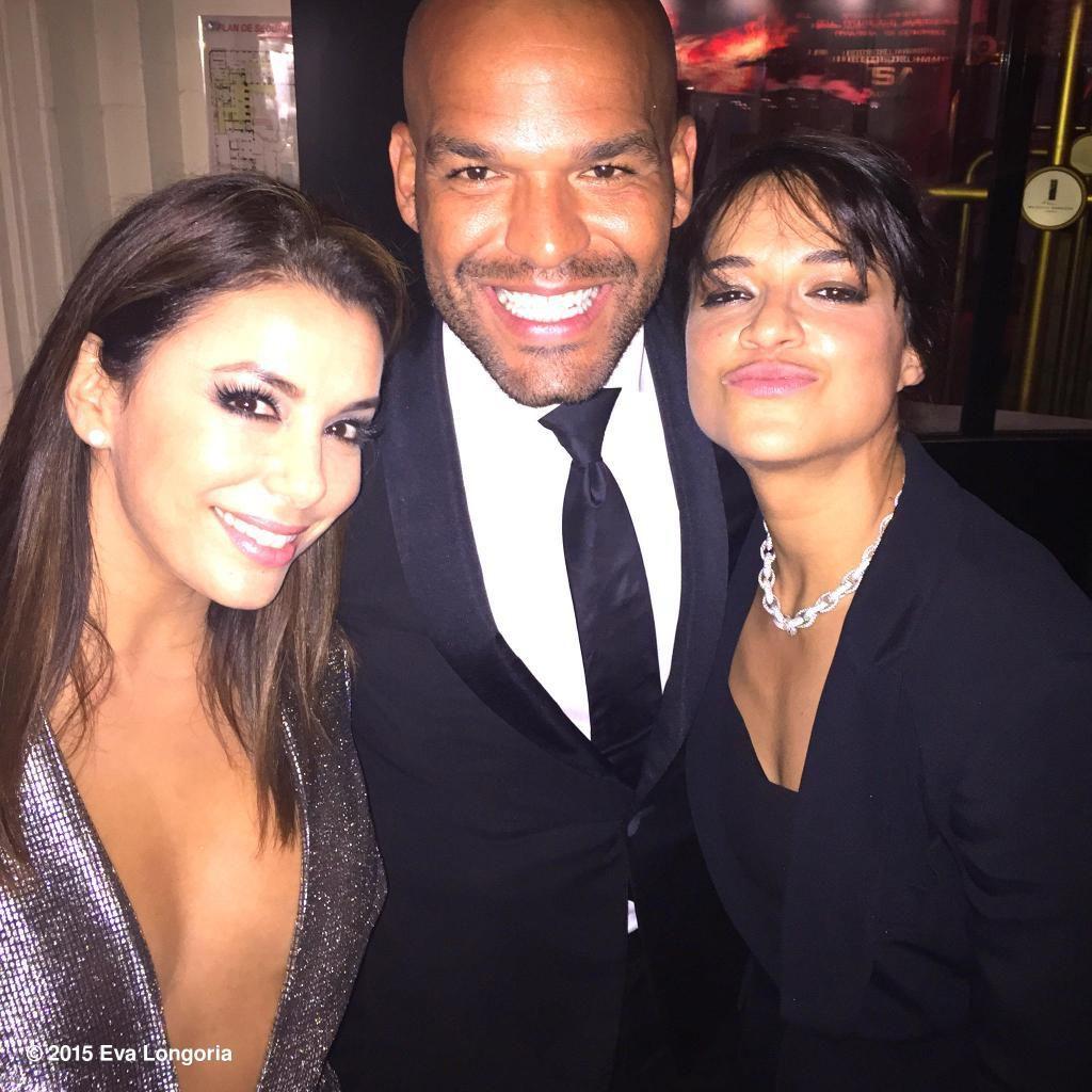 Eva Longoria avec Amaury Nolasco & Michelle Rodriguez