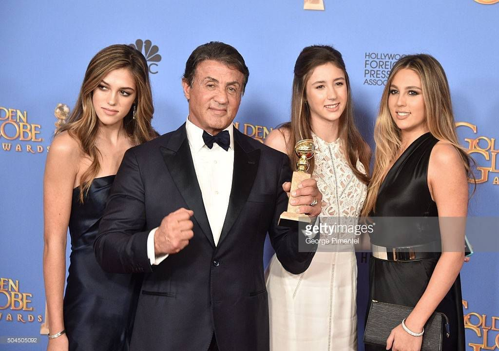 photo de sly au golden globes