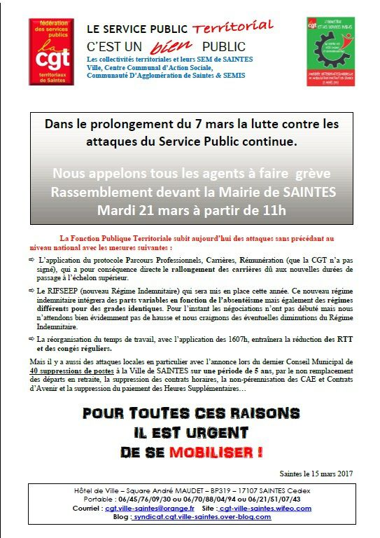 TRACT JOURNEE D'ACTION NATIONALE DU 21 MARS 2017