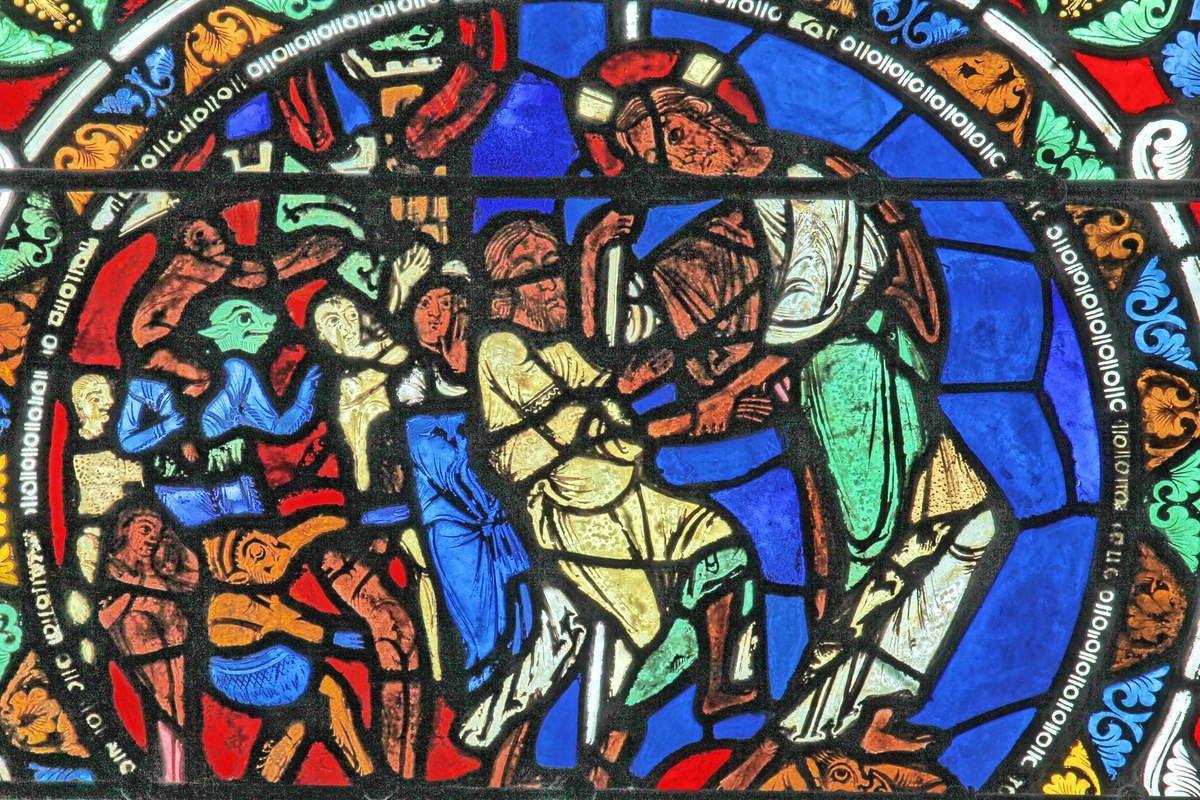 Baie XV : Descente aux Limbes (v. 1150).